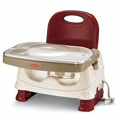 [小寶的媽] Fisher Price費雪寶寶小餐椅 - 費雪餐椅 可攜式餐椅(酒紅色)用餐椅 墨西哥製