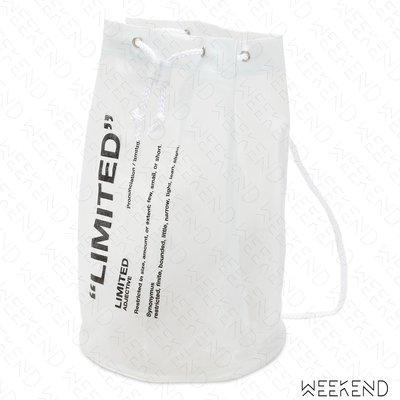 【WEEKEND】 TABOO Limited PVC 文字 抽繩 圓筒 沙灘包 19春夏