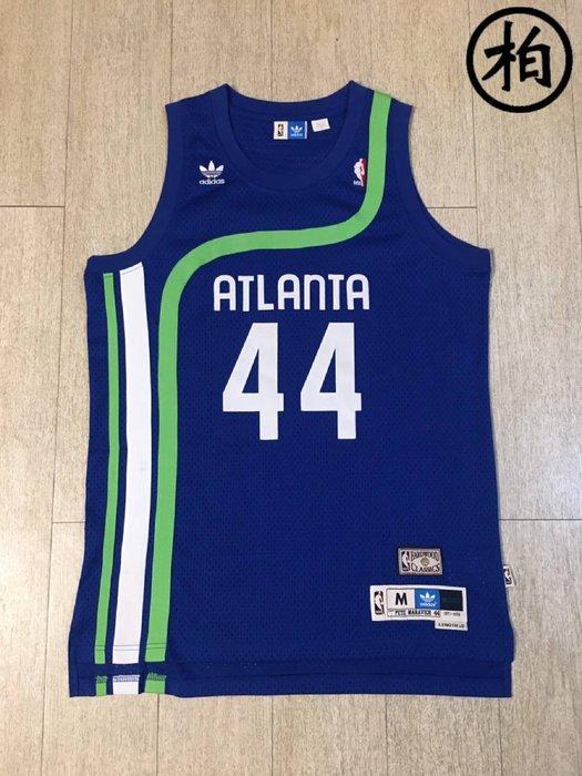 【柏】優質二手 ADIDAS NBA 老鷹隊 Pete Maravich 手槍皮特 PISTOL 美版 復古 綽號 球衣