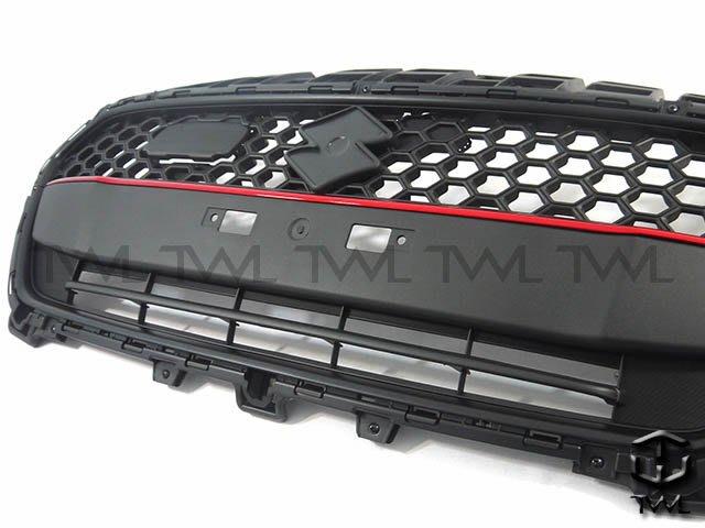 《※台灣之光※》全新 SUZUKI 鈴木 SWIFT 17 18 19年日規RS樣式外銷A級品前保桿黑框紅條水箱罩台灣製