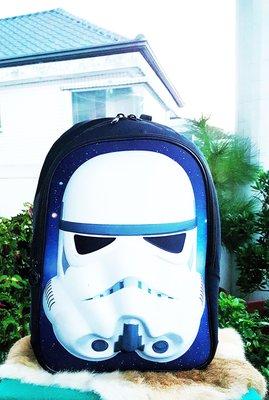 《廣寶閣》星際大戰 帝國風暴兵storm trooper 戶外 休閒 雙層後背包 新品