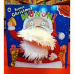 *小貝比的家*SANTA'S CHRISTMAS MUNCH /HAND PUPPET /硬頁/2-5歲