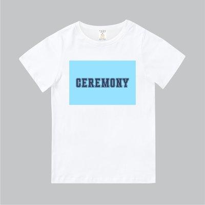 T365 MIT 親子裝 T恤 童裝 情侶裝 T-shirt 標語 話題 口號 美式風格 slogan CEREMONY