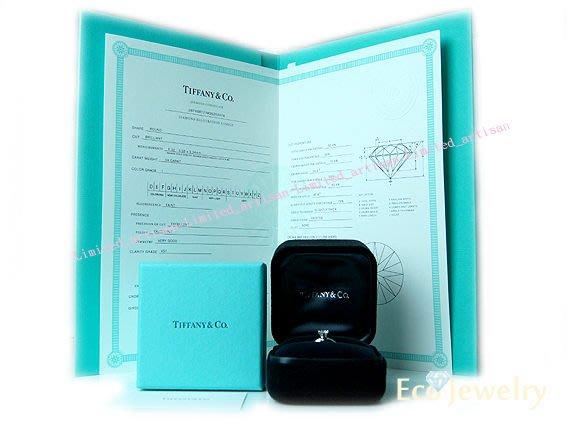 《Eco-jewelry》【Tiffany&Co.】經典六爪鉑金鑽石0.58ct/IVS1 2EX戒指附件齊全~專櫃真品