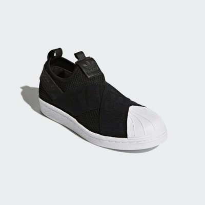 # ADIDAS ORIGINALS SUPERSTAR SLIP-ON 黑白 繃帶 襪套 女鞋 CQ2382 YTS