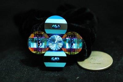 j183最高級真正施華洛世奇水晶製造4瓣多切面中花8色之一閃爆眼睛髮束只怕不識貨(特價中)