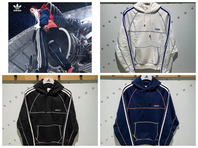 FOCA Adidas originals 撞色縫線 男款 連帽 帽T 白GN3892 藍GN3893 黑GN3891