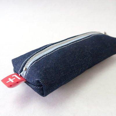 (免費包郵) Plus 1 深藍單寧四方筆袋 Indigo Denim Square Pencil Case