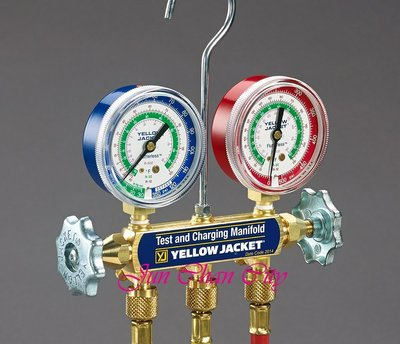 R12 R22 R502 冷媒雙錶組 含5尺加氣管 YELLOW JACKET 美國進口 2017新版