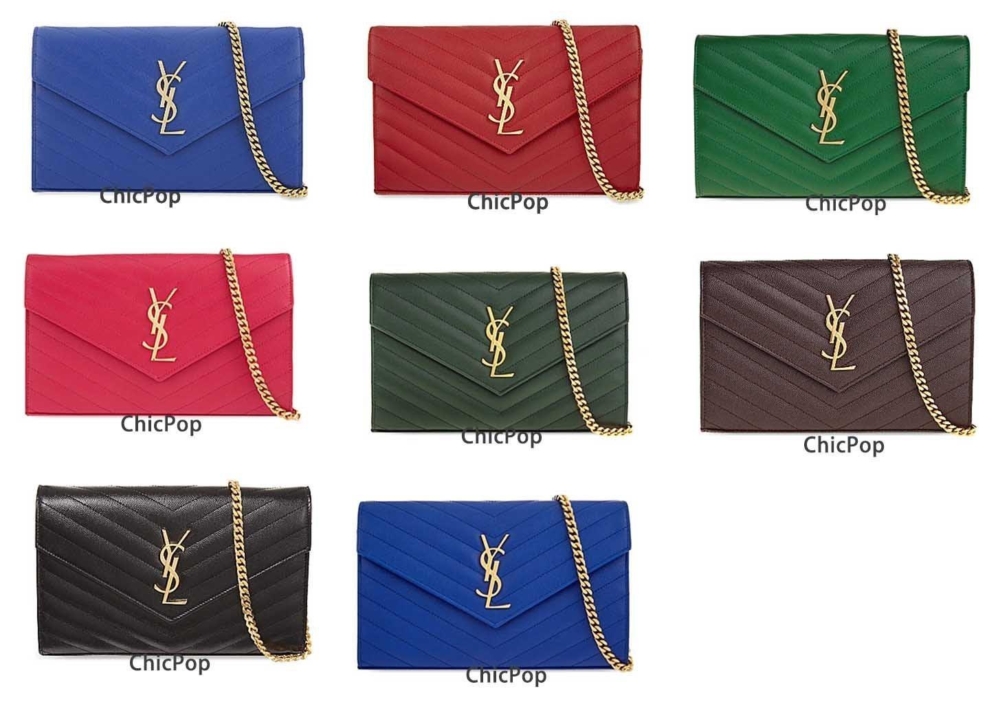 【ChicPop】SAINT LAURENT Monogram quilted leather  經典WOC
