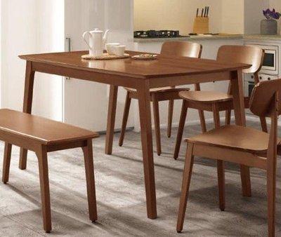 【風禾家具】FT-655-2@KN山毛櫸4.6尺實木餐桌【台中5600送到家】餐檯 休閒桌 工作桌 北歐風 傢俱