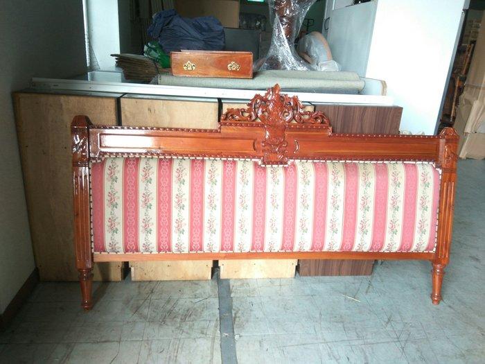 大高雄冠均二手貨家具(全省收購)---歐風   全實木柚木    床頭     床頭板     床頭片     別錯過