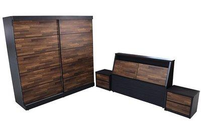 【尚品傢俱】921-03 暖暖 雙色5尺床組~另有6尺床組/雅房套房家具組/Bedroom Furniture