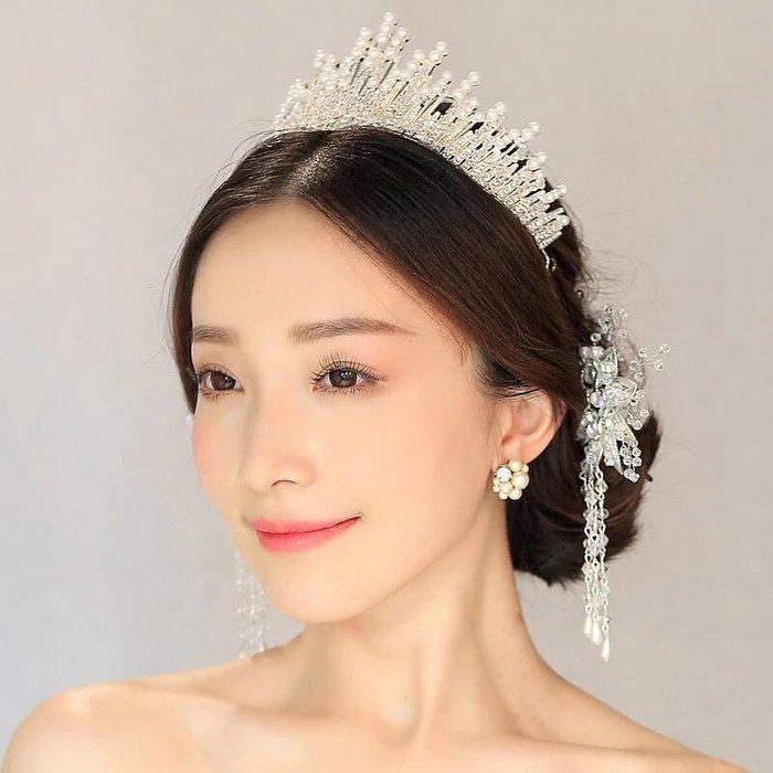 新娘飾品瑪姬主義-  A007巴羅克新娘花朵手工水晶皇冠