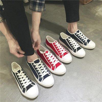 春季新款韓版休閒男士學生帆布鞋男潮流時尚布鞋低筒運動板鞋