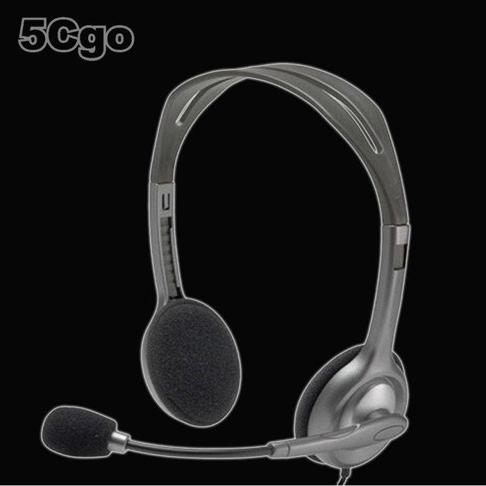 5Cgo【發燒友】Logitech/羅技 H111電腦耳機頭戴式音樂語音耳麥 單孔帶麥克風 蘋果安卓手機吃雞電競遊戲含稅