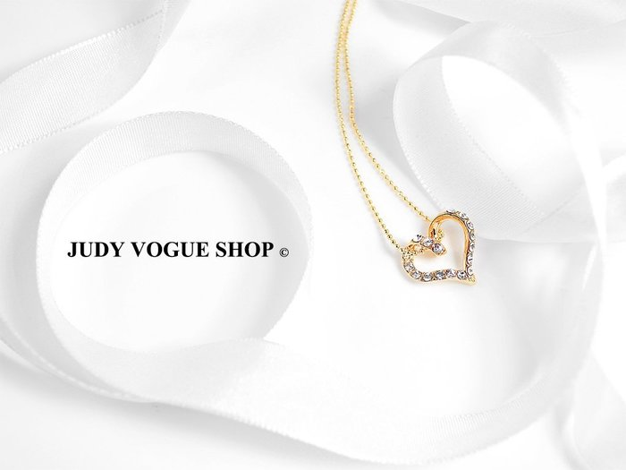 項鍊 韓國 愛情戀曲氣質鎖骨鍊 甜心款 流線設計JUDY VOGUE SHOP【JNE-0002】