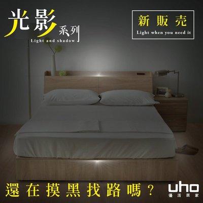 光影系列【UHO】秋原-五尺二件組(床頭箱+收納式床底)-A款