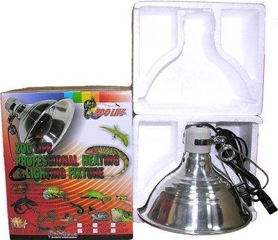 ( 4-52) ZOO LIFE夜間紅外線聚熱燈泡150W +陶瓷鋁合金燈罩 L + 350W控溫器 組合套餐 一年保固