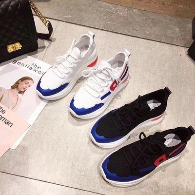 創意夏季女鞋 VK粉絲福利 韓版大牌款舒適透氣飛織厚底運動鞋女1200-3