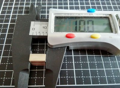 10mmx5mmx0.8mm-超薄片強力磁鐵-可作手工磁吸卡片@萬磁王@