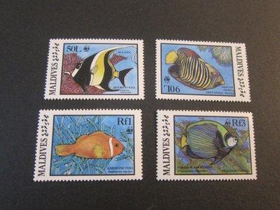 【雲品】馬爾代夫Maldives 1986 Sc 1185-87,89 UN MNH 庫號#B537 90533