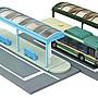 TOMYTEC 1/150 N規 情景小物 007-4 巴士車站 A4 (都市型)