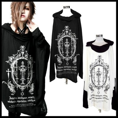 *MINI PUNK LOLO*日本龐克視覺-暗黑皇族的魔耀水晶聖杯個性長版上衣(中性.sa68407)PUNK