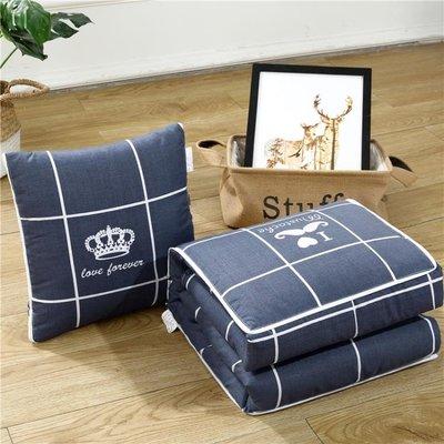 抱枕被子兩用靠墊被沙發辦公室午休靠枕頭被空調汽車腰枕床頭靠背  IGO