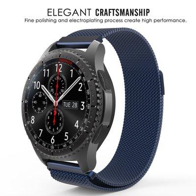 華碩 Asus ZenWatch 1代 2代 49mm 錶帶 錶帶 米蘭尼斯 回環磁吸 不銹鋼錶帶 金屬腕帶 智能手錶帶