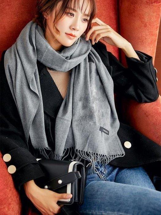 麥麥部落 素色圍巾女士冬季正韓百搭新品學生秋冬天長版圍脖兩用仿MB9D8