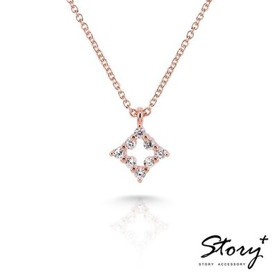 《 SilverFly銀火蟲銀飾 》STORY Star晶鑽系列-Fairy Star 純銀晶鑽項鍊