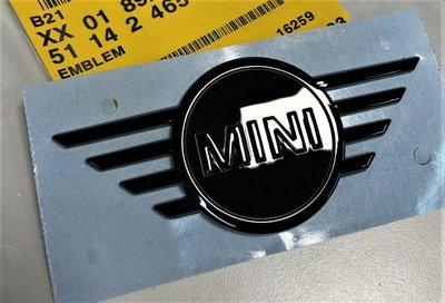 【歐德精品】德國原廠BMW MINI F55 F56 F57 高光黑引擎蓋/行李箱標誌 高光黑車標LOGO 前標 後標