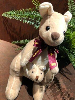 澳洲袋鼠娃娃-(紫色緞帶版)澳洲製造...