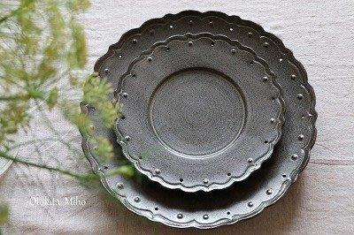 發現花園 日本選物~日本製 職人手做  音喜多美歩 鐵釉 花盤
