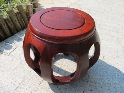 紅檀實木八腳鼓凳 只得一張