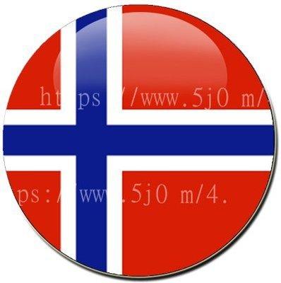 〈世界國旗〉挪威 國旗胸章 (直徑3.2公分)