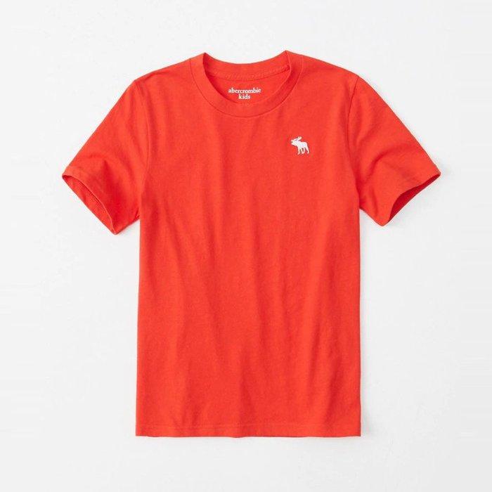 【abercrombie kids】【a&f】af男童款短袖素T19白小鹿紅 F07190717-22