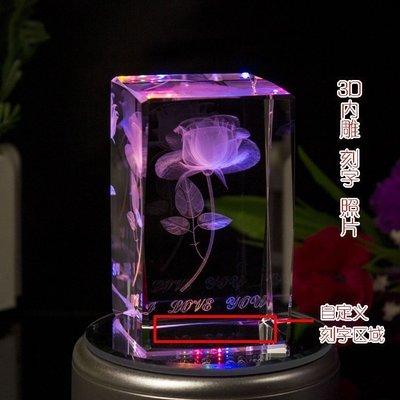 【優上精品】DIY3D內雕水晶玫瑰音樂盒送男女友老婆公生日禮物情人節禮物(Z-P3281)