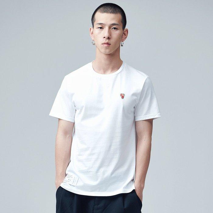 【OTOKO Men's Boutique】固制:小鮮肉刺繡長絨棉短袖/白色(台灣獨家代理)