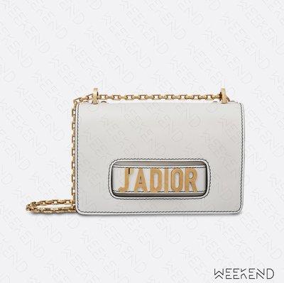 【WEEKEND】 DIOR J'ADIOR 皮革 鍊條 肩背包 白色