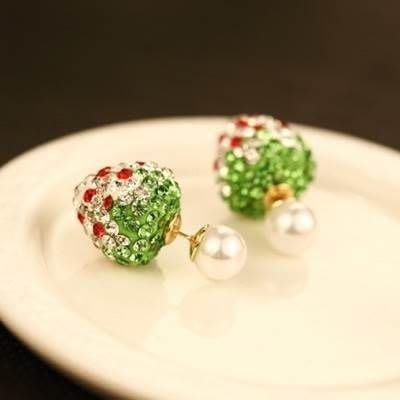 玫瑰金耳環 珍珠耳飾-絢麗婉約草莓造型女飾品3色73ca34[獨家進口][巴黎精品]