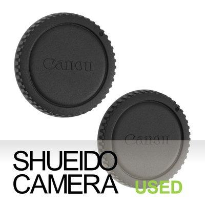 集英堂写真機【全國免運】良上品 CANON 原廠相機機身蓋 機身保護蓋 2枚組合 EOS 底片 數位 機身用 19505