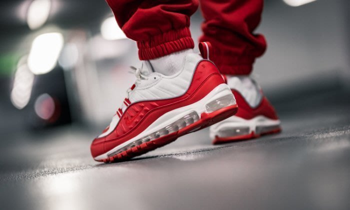 NIKE AIR MAX 98 UNIVERSITY RED 紅白 復古 休閒鞋 男女鞋 640744-602