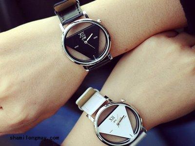 【WA605】韓風 日系 簡約時尚 三角設計手錶 對錶 情人節 交換 非 CASIO 禮物 贈品 FOSSIL 聖誕節