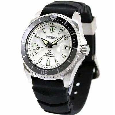 預購 SEIKO SBDC131 精工錶 44mm 機械錶 潛水錶 白面盤 黑膠錶帶 藍寶石 鈦金屬 男錶女錶