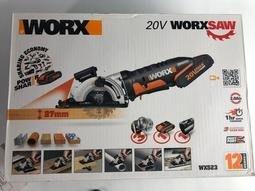 售完 WORX 威克士WX523鋰電小鷹鋸 帶激光切割器,手提圓鋸機,迷你圓鋸機