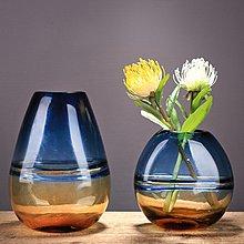 〖洋碼頭〗新中式簡約創意彩色玻璃花瓶擺件家居客廳水培插花花器樣板間軟裝 ysh689