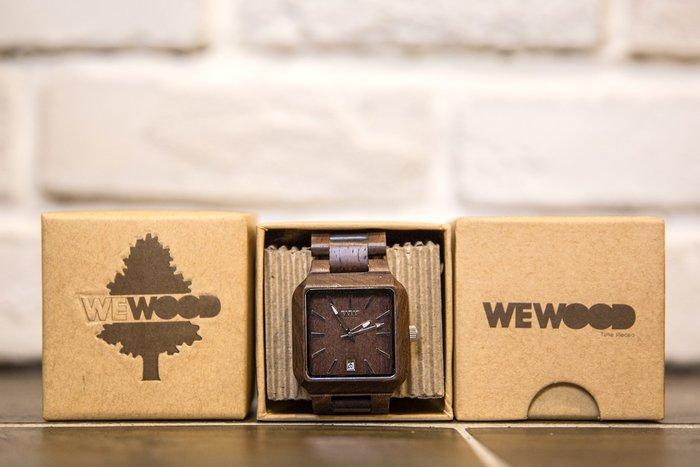 【紐約范特西】現貨 義大利 We Wood METIS CHOCOLATE 木頭錶 巧克力色 正方錶 有日期