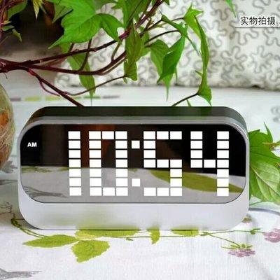 矩陣式 LED大字體鬧鐘 萬年曆電子 帶溫度  顯示   新台幣:498元